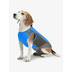 NEW! COOLING INSECT SHIELD DOG PET SHIRT TANK BUG PROTECTION BLUE