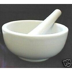 Kyпить BRAND NEW WHITE PORCELAIN MORTAR AND PESTLE,  SHIPS FAST FROM USA SELLER!! на еВаy.соm