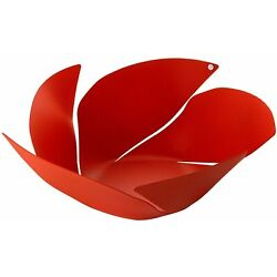 Fruit Bowl with Relief Decoration ALESSI Twist Again Texture OD02/29 RT Red