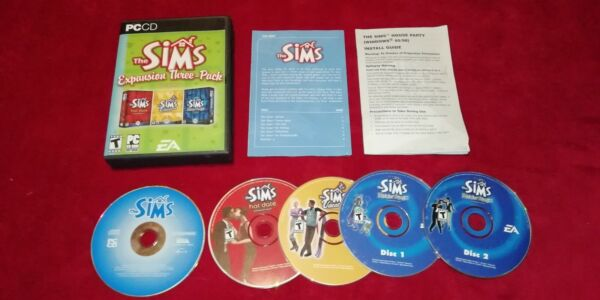 The Sims Expansion Three-Pack: Volume 2 (PC, 2005)