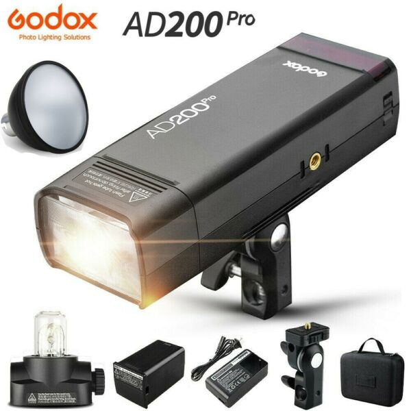 Godox AD200Pro 200Ws 2.4G Flash Strobe 1/8000 HSS Speedlite Flash +AD-S2