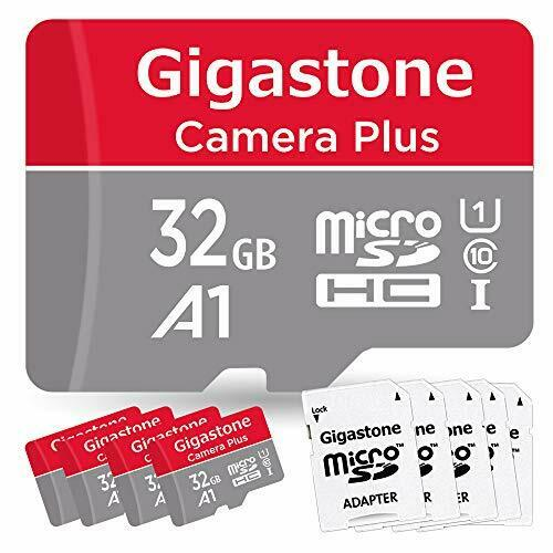 Gigastone 32GB 5-Pack Micro SD Card with Adapter, U1 C10 Class 10 90MB/S, Full