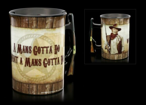 AllemagneJohn Wayne Tasse en Céramique - A Mans Gotta Do - Plus Sauvage Occidental Thé