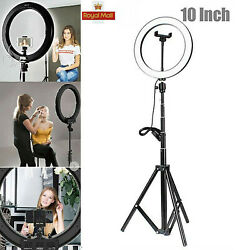 Kyпить LED Ring Licht Handyhalter Kit Selfie Fotografie Beauty Lampe DE на еВаy.соm