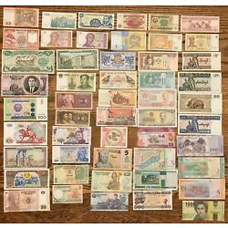 Kyпить 51 Pcs of Different World Currency Foreign Banknotes Lot Uncirculated With BONUS на еВаy.соm