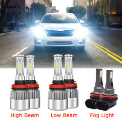 Kyпить For 2007-2018 Nissan Altima Combo LED Headlight High Low + Fog light bulbs Kit на еВаy.соm