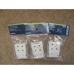 Levolor Low Profile Mounting Brackets for Faux Wood Blinds 91136 Lot Of 3 Pairs