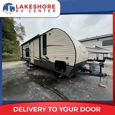 Used 2016 Forest River Grey Wolf 26RR Travel Trailer Toy Hauler RV - CLEARANCE