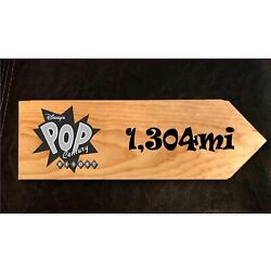 Your Miles to Pop Century Resort Personalized Sign