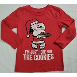 Kyпить I'm Just Here For The Cookies Snoopy Peanuts Christmas Boys T-Shirt на еВаy.соm