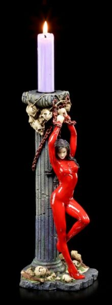 AllemagneVampire IN Red Lack-Outfit - Candle Holder - Andromeda - Veronese Deco