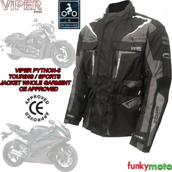 Royaume-UniGiacca Tessuto Moto CE Approvato Impermeabile Termico Sport Touring Cafe Racer