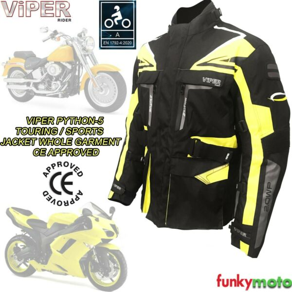 Royaume-UniGiacca Impermeabile Tessuto Moto CE Approvato Termico Cafe Racer Touring Sport