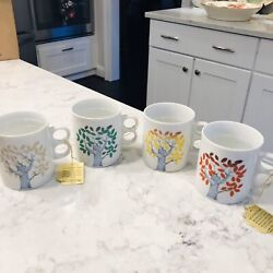 FOUR Fall Trees Color Changing Mugs Empress By Haruta Japan