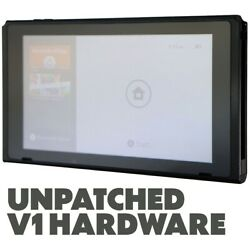 Kyпить FAIR Nintendo Switch 32GB V1 UNPATCHED / HACKABLE Video Game Console ONLY - Blk на еВаy.соm
