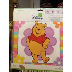 Home decor-Imperial Winnie the Pooh Self Stick Wall Art- New unopened