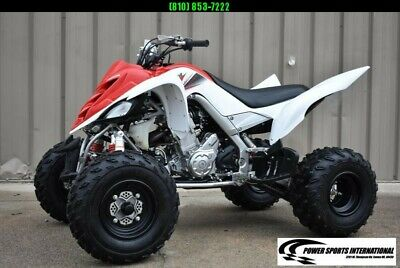 Left Over 2011 Yamaha Raptor 700R Red and White Edition Sport ATV Quad
