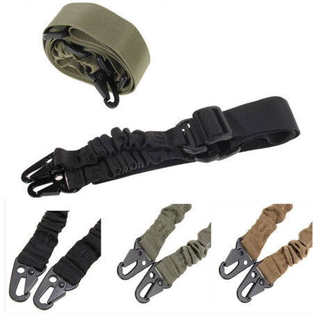 img-Heavy Duty Gun Belt Strap Tactical TWO 2Points Nylon Bungee Rifle Sling Sell