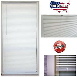 Cordless 1 in. Vinyl Mini Blind Window Shade 64'' Length All Size Width Indoor