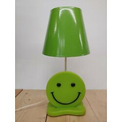 Kyпить Vintage Mid Century Green Smiley Face Kid's Room lamp with Green Lamp Shade на еВаy.соm