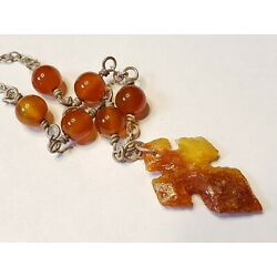 Kyпить Sterling silver Carved Carnelian Agate Cross beaded chain pendant necklace 925 на еВаy.соm