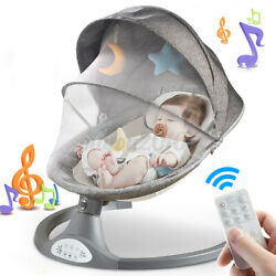 Kyпить Remote Electric Baby Swing Cradle Infant Music Rocking Chair Sway Seat Bouncer  на еВаy.соm