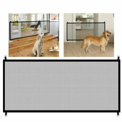 Kyпить Large Pet Dog Baby Safety Gate Mesh Fence Portable Guard Indoor Home Kitchen Net на еВаy.соm