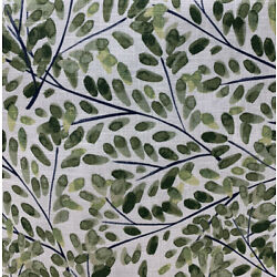 CRATE AND BARREL COVINGTON LEAF AND VINE PRINT MULTIPURPOSE FABRIC BY THE YARD