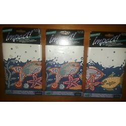 NEW Imperial Impact Self Adhesive Removable Sea Life Wall Borders 3 Packs