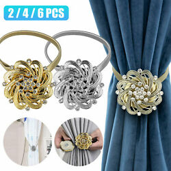 Lot Magnetic Ball Curtain Buckle Holder Tie Backs Clips Home Window Crystal Hook