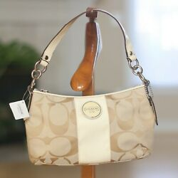 Coach handbags shoulderbags cross body purse ''new with tags'' small Khaki White