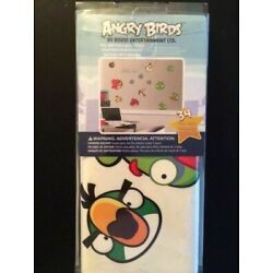 NEW Rovio Angry Birds Wall Decals 34 Peel & Stick Decals 4 Sheets Green Pigs