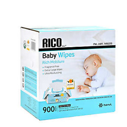 Kyпить NEW RICO Baby Wipes, 900-count ***FREE SHIPPING** на еВаy.соm