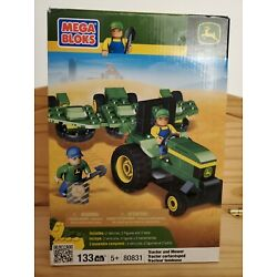 Kyпить MEGA BLOKS JOHN DEERE FARM TRACTOR & MOWER 80831 w/ Figures Tools NIB Retired на еВаy.соm