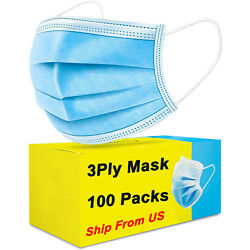 Kyпить  100 PCS Blue Face Mask Mouth & Nose Protecting Families Easy Safe with Filter на еВаy.соm