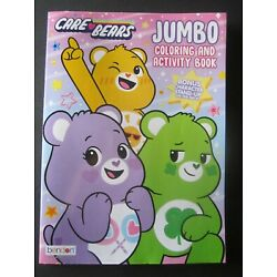 Care Bears Colorful Fun Jumbo Coloring Activity Book W/ Stand-Up Character New!