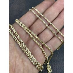 Kyпить Real 14K Gold Rope Chain ITALY MADE 16