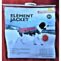 EZY DOG ~ ELEMENT JACKET ~ WIND & SHOWER PROOF~ SIZE XS ~ BRAND NEW; COST $36.99