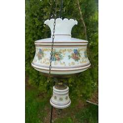 Kyпить Vintage Quoizel Hanging Brown Abigail Adams Gone With The Wind Lamp на еВаy.соm
