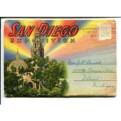Kyпить San Diego Exposition San Diego California Linen Posted Fold-Out на еВаy.соm
