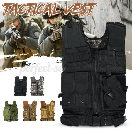 img-Military Tactical Vest Adjustable Molle Combat Plate Holder Army Airsoft Clothes