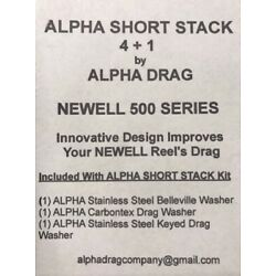 NEW! ALPHA  SHORT STACK True 4 + 1  Drag System For NEWELL 500 SERIES  CARBONTEX