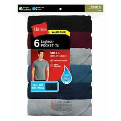 Kyпить Hanes Men's Soft and Breathable Pocket Tee Assorted 6-Pack на еВаy.соm