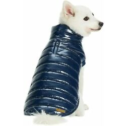 Blueberry Pet Navy Blue Windproof Warm Quilted 10'' Puffer Small Dog Jacket   G