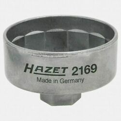 Engine Oil Filter Wrench 74.4mm, 14 Point with 3/8'' Drive (27mm) Hazet Brand New
