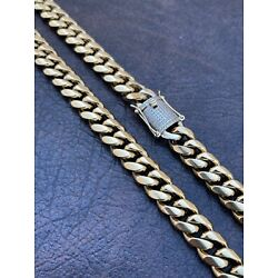 Kyпить Mens Real Miami Cuban Link Chain 14k Gold Over Stainless Diamond Clasp WHOLESALE на еВаy.соm