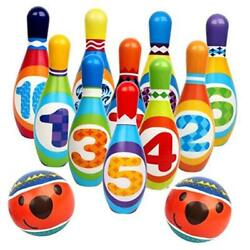 Kyпить  Kids Bowling Set Toy, Toddlers Educational Toys with 10 Bowling Pins & 2 Balls, на еВаy.соm