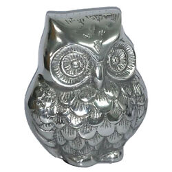 Kyпить New Collectable Solid Polished Aluminium Owl Figure Paperweight - 100% Recycled. на еВаy.соm