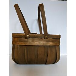 Wooden decor basket 11 inches