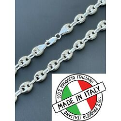 Kyпить 925 Sterling Silver 8mm Puffed Gucci Mariner Link Chain Necklace Bracelet 7-30